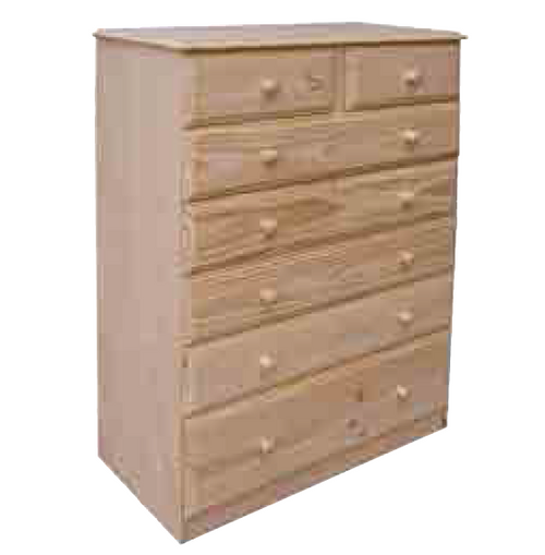 "36""  7  DRAWERS TOP SPLIT  CHEST  1330(H) - 12"" BOTTOM - 1330 (H) X 900(W) -STAINED"