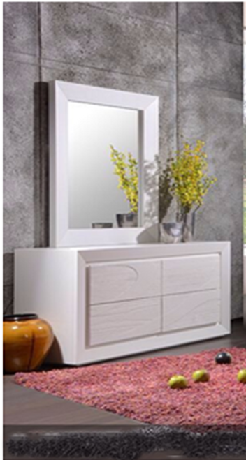 GEOLAND  DRESSING TABLE WITH MIRROR (MODEL 13-1-18-22-9-14) -WHITE