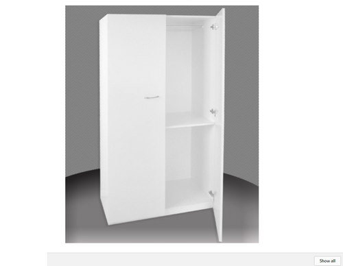 2FT ADULTS  HALF HANGING 1 DOOR  ROBE (BCAHALF24-1) (NOT AS PICTURED) -  1800(H) X 600(W) -  ASSORTED COLOURS AVAILABLE