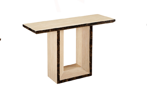SABALI 9002 MARBLE CONSOLE TABLE- 800(H) X 1200(W) X 400(D) - (MODEL-3-8-9-3) - CREAM