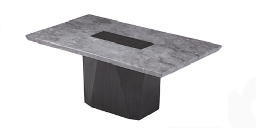 CAPE (9003) MARBLE COFFEE TABLE - 1250(L) x 1250(W) x 700(D) - (MODEL-12-25-15-14) - GREY