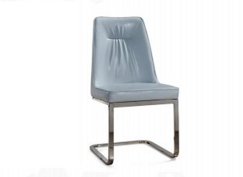 MAYOR (9008) DINING CHAIR -(MODEL-15-12-9-22-9-1) - BRUSHED STAINLESS STEEL