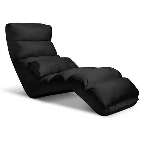 ABINAS LOUNGE SOFA CHAIR WITH 3 ADJUSTABLE SECTIONS - BLACK