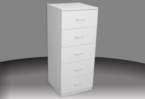 18 INCH 4 DRAWER HIGH CHEST (CD418) WITH METAL RUNNERS (NOT AS PICTURED) -865(H) - ASSORTED COLOURS