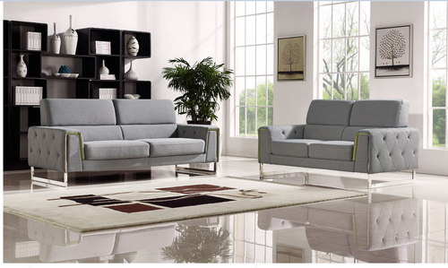 BULOND 2 + 2 SEATER   FABRIC   LOUNGE SUITE - (MODEL-2-18-21-20-20-5-12-20)- LIGHT GREY