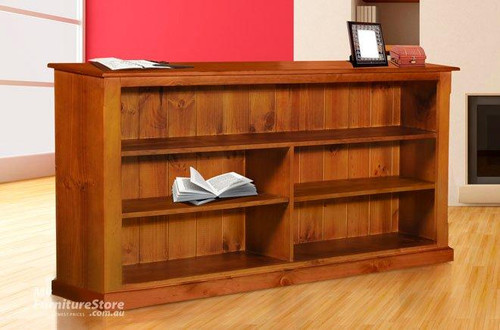 DRAGON LOWLINE BOOKCASE (3x5) WITH 70MM FACING & WIDE T&G - 900(H) X 1500(W) - ASSORTED COLOURS