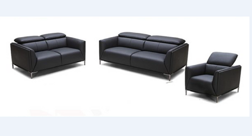 AMEN    3 +2+ 1 SEATER   FULL LEATHER  LOUNGE SUITE  - - (MODEL13-9-12-1-14) GREY