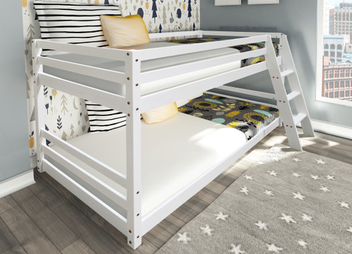 ACHIEVER SINGLE OVER SINGLE LOWLINE BUNK BED - WHITE