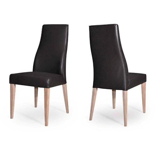 MIKEL 873P LEATHERETTE DINING CHAIR - BLACK