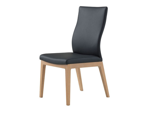 CLARKE   DINING  LEATHERETTE CHAIR - BLACK