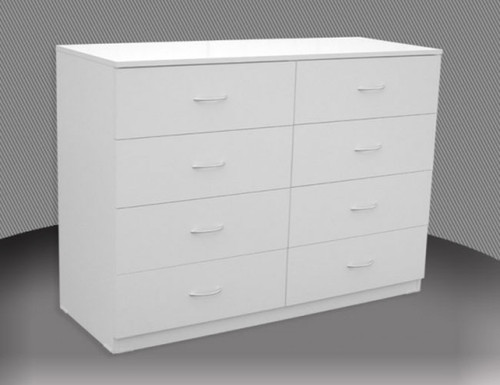 4FT 3 DRAWER SPLIT CHEST (CD348) WITH METAL RUNNERS (NOT AS PICTURED) - 750(H)  -ASSORTED COLOURS
