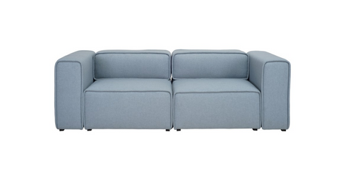 ACURA TWO (2)  SEATER   FABRIC  ARM CHAIR - AQUAMARINE