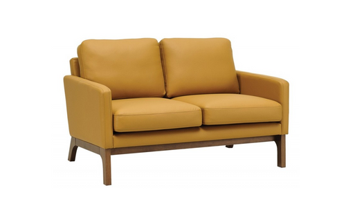 COVE TWIN (2) SEATER   LEATHERETTE  SOFA CHAIR - CARAMEL