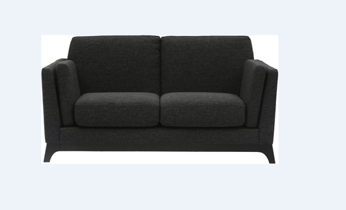 FINN   TWIN (2) SEATER   FABRIC SOFA CHAIR - LICORICE