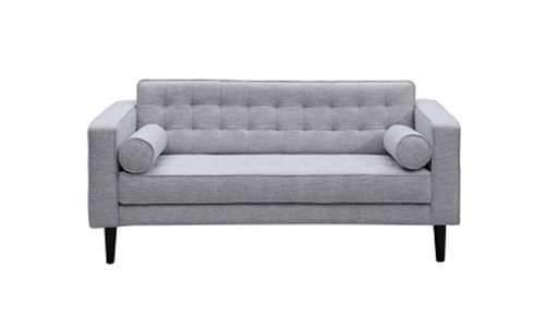 AIDEN  TWO (2) SEATER   FABRIC SOFA LOUNGE WITH 2 CUSHIONS - ALMOND