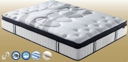 DOUBLE SLEEPRITE LUXURY LATEX POCKET SPRING ENSEMBLE (MATTRESS & BASE) (VMT-015) WITH BODY CARE (SWB) BASE - PLUSH