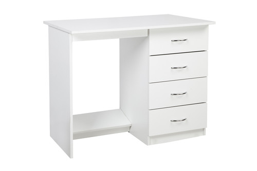 4FT CHILDS DESK (4x18DESK) WITH METAL RUNNERS ON DRAWERS AND CHROME HANDLES (NOT PINK DRAWER HANDLES AS PICTURED) -1200(W) X 450(D)-  ASSORTED COLOURS