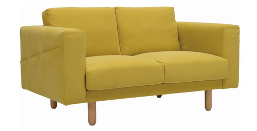 MINEX  TWO (2) SEATER   FABRIC SOFA LOUNGE - TURMERIC