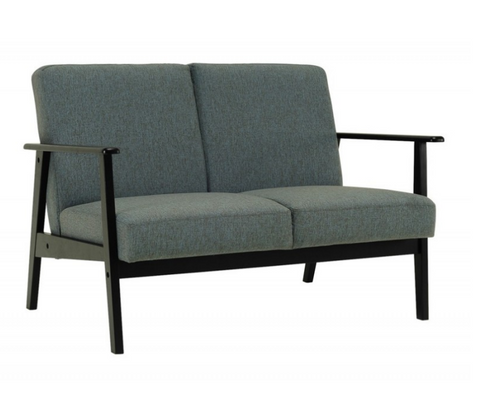 TELFORD TWO (2) SEATER   FABRIC SOFA LOUNGE - WHALE