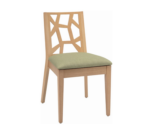 JENIFER   DINING CHAIR  - FABRIC  - SPRING GREEN