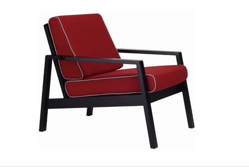 LATIO   FABRIC ARM CHAIR - CRIMSON