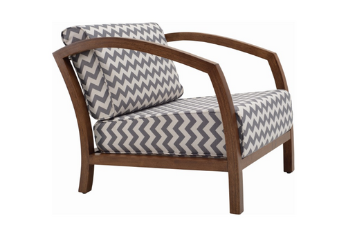 VELDA  FABRIC ARM CHAIR - GREY CREATION