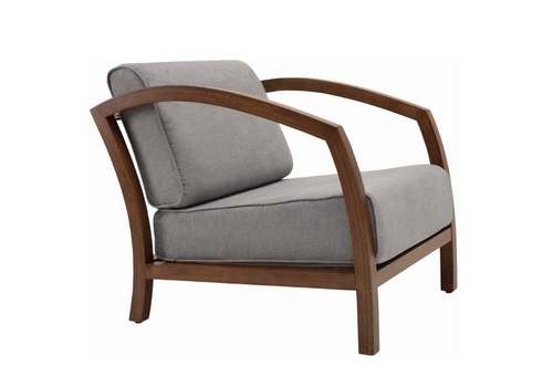 VELDA  FABRIC ARM CHAIR - DOLPHIN