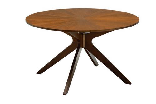 CONAN  ROUND DINING TABLE- 1370(DIA) - COCOA