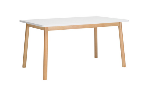 DEKEL SCANDINAVIAN  DINING TABLE - 1500(L) X 900(W) -  WHITE