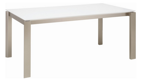 ELWOOD SCANDINAVIAN  DINING TABLE - 1800(L) X 1000(W)-  WHITE