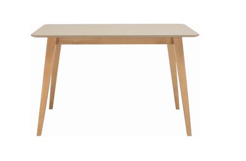 PLATON SCANDINAVIAN DINING TABLE - 1200(L) X 750(W) - OAK LEGS / TAUPE GREY