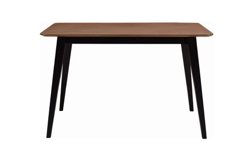 PLATON SCANDINAVIAN  DINING TABLE - 1200(L) X 750(W) -  BLACK / COCOA