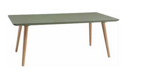 CARSYN RECTANGULAR COFFEE TABLE - 1200(W) X 600(D) -  PICKLE GREEN