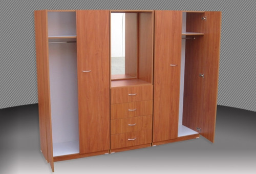REXY 3 PIECE COMBO WARDROBE (3PCE500D) EXTRA DEPTH WITH METAL RUNNERS - 1800(H) X 1400(W) -  ASSORTED COLOURS