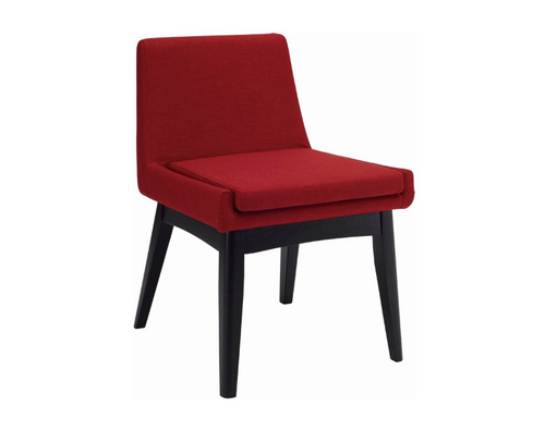MAYA FABRIC DINING CHAIR - CRIMSON