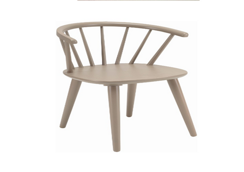 CALEY DINING CHAIR  - TAUPE GREY