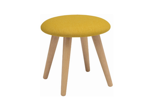 POPPY FABRIC  STOOL - 480H -  YELLOW