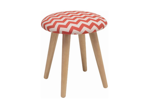 POPPY FABRIC  STOOL - 480H -  AUBURN
