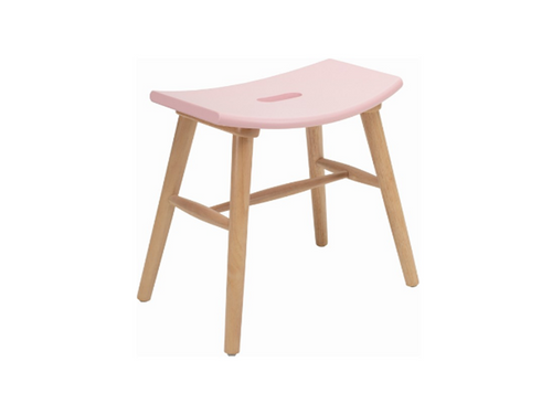 HOLLIS SCANDINAVIAN BAR STOOL - 490H -  ORCHID PINK