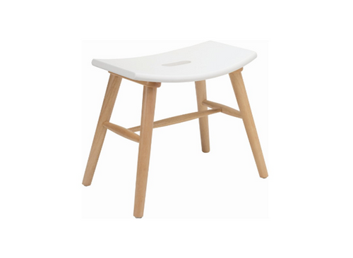 HOLLIS SCANDINAVIAN BAR STOOL - 490H -  LACQUERED WHITE