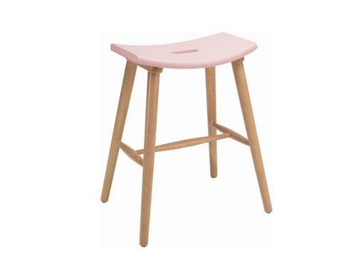 HOLLIS SCANDINAVIAN COUNTER STOOL - 620H -  ORCHID PINK