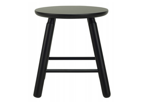 OLGA SCANDINAVIAN BAR STOOL - 450H -  EBONY