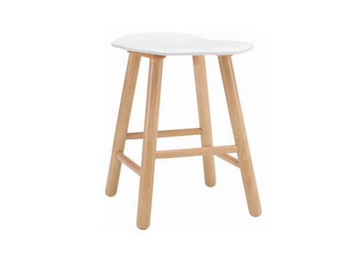 HETTY SCANDINAVIAN COUNTER STOOL - 650H -  LACQUERED WHITE