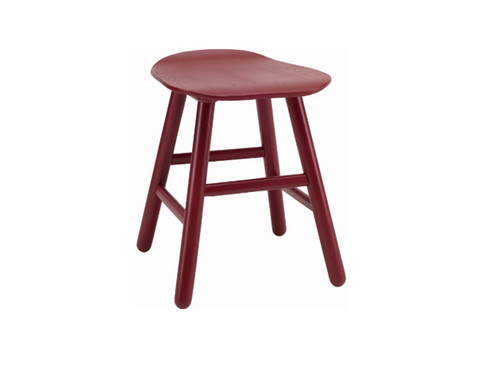 HETTY SCANDINAVIAN BAR STOOL - 490H -  MAROON