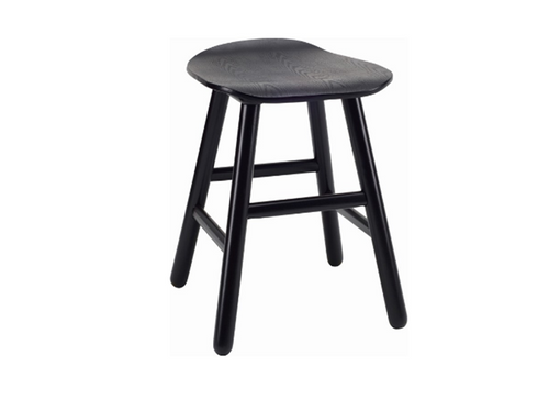 HETTY SCANDINAVIAN BAR STOOL - 490H -  BLACK ASH VENEER