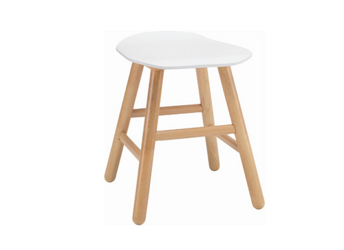 HETTY SCANDINAVIAN BAR STOOL - 490H -  LACQUERED WHITE