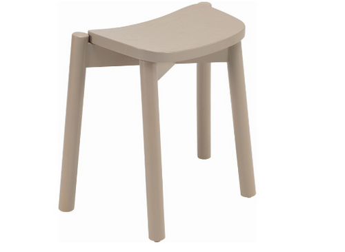 DINAH STACKABLE BAR STOOL - 500H -  TAUPE GREY