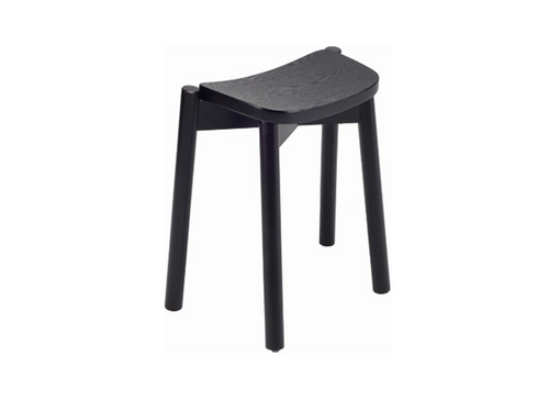 DINAH STACKABLE BAR STOOL - 500H - BLACK ASH VENEER