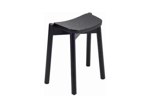 DINAH STACKABLE BAR STOOL - 500H - BLACK ASH VENEER