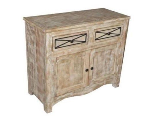 DENNY SIDEBOARD WITH 2 DOORS & 2 DRAWERS   (3-15-1-19-20-1-12) - 850(H) X 1000(W) - NATURAL